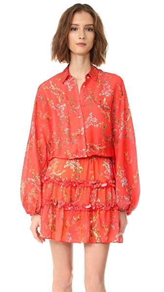 Alexis Loe Dress - Blooming Red