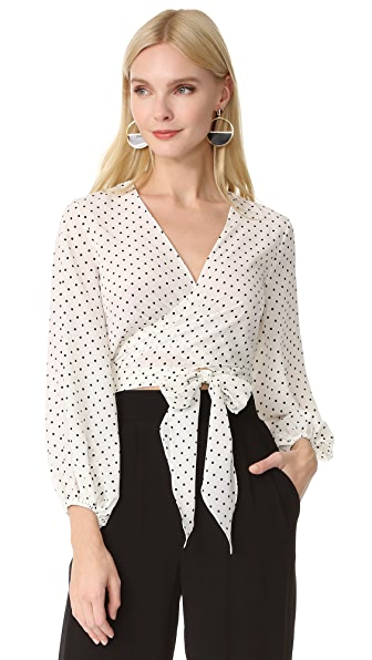 Alexis Nirav Top - White Black Dot