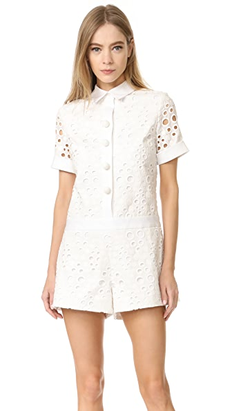 Alexis Rockwell Romper - White