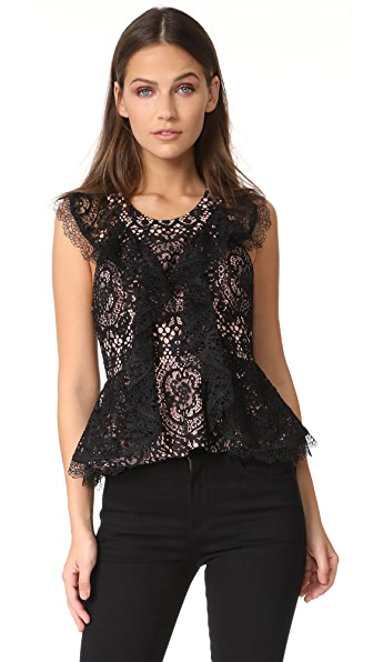 Alexis Cairo Top - Black Lace