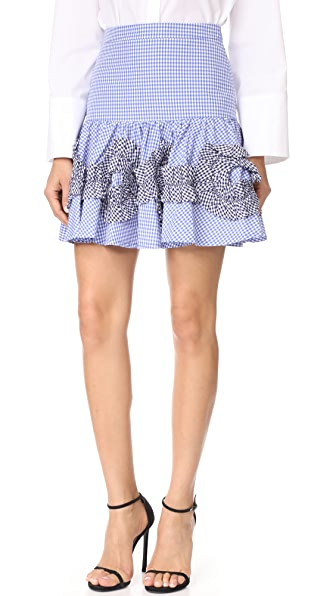 Alexis Daly Skirt In Blue Gingham