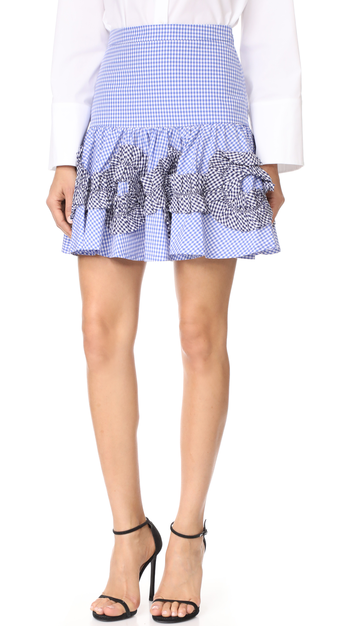 Alexis Daly Skirt - Blue Gingham