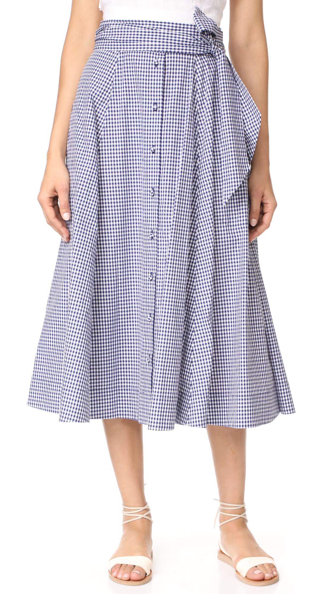 Alexis Hadley Skirt - Navy Gingham
