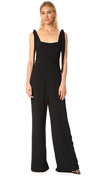 Alexis Lincolm Jumpsuit In Solid Black