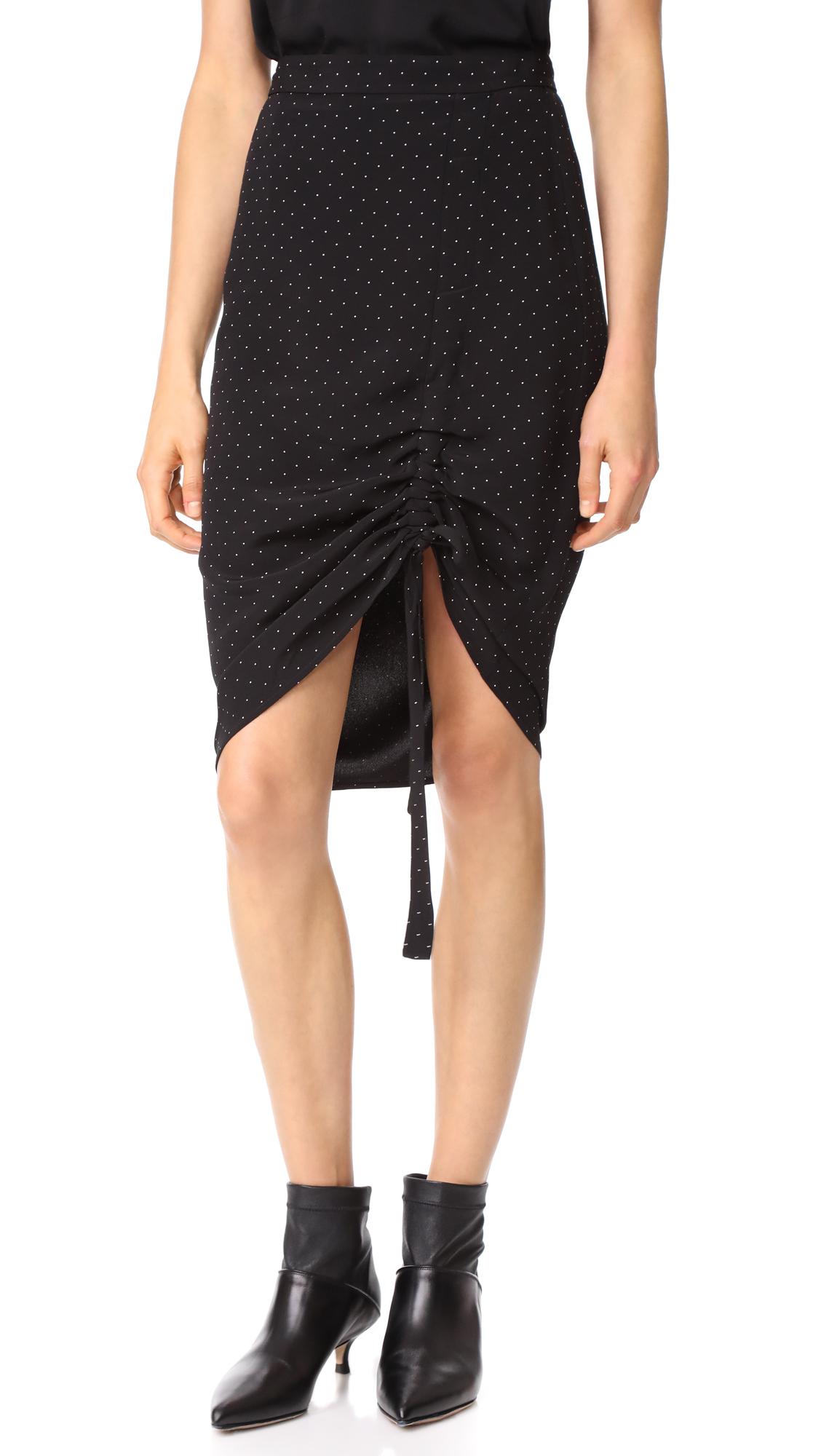 Alexis Ivy Skirt - Black Micro Dot