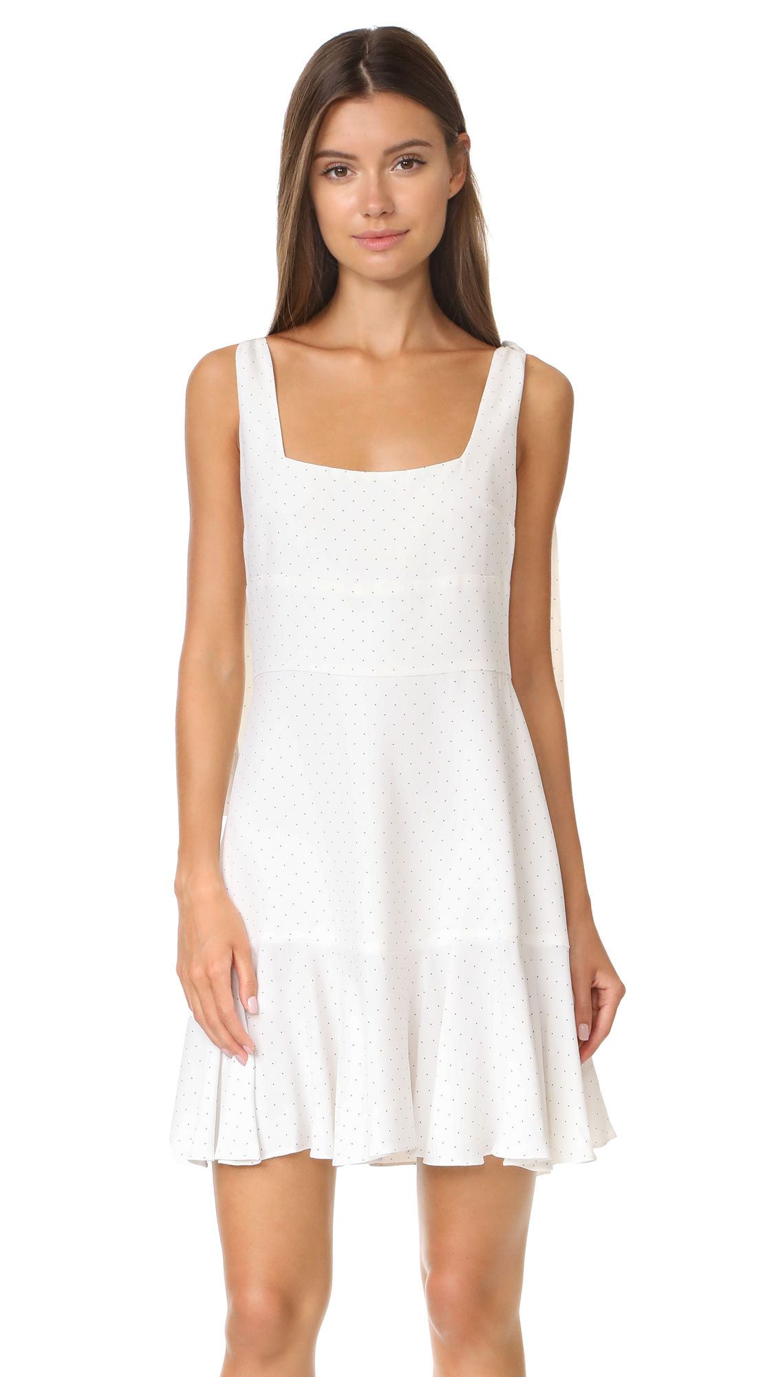 Alexis Jazz Dress - White Micro Dot
