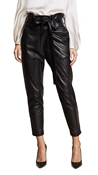 Alexis Jerri Leather Pants In Black