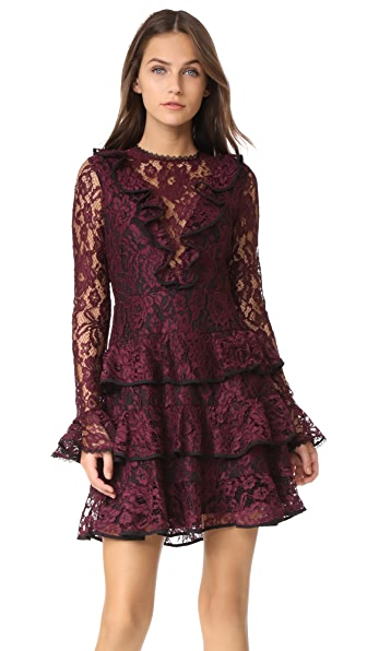 Alexis Tracie Lace Dress - Burgundy Lace