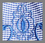 Blue Embroidery Gingham