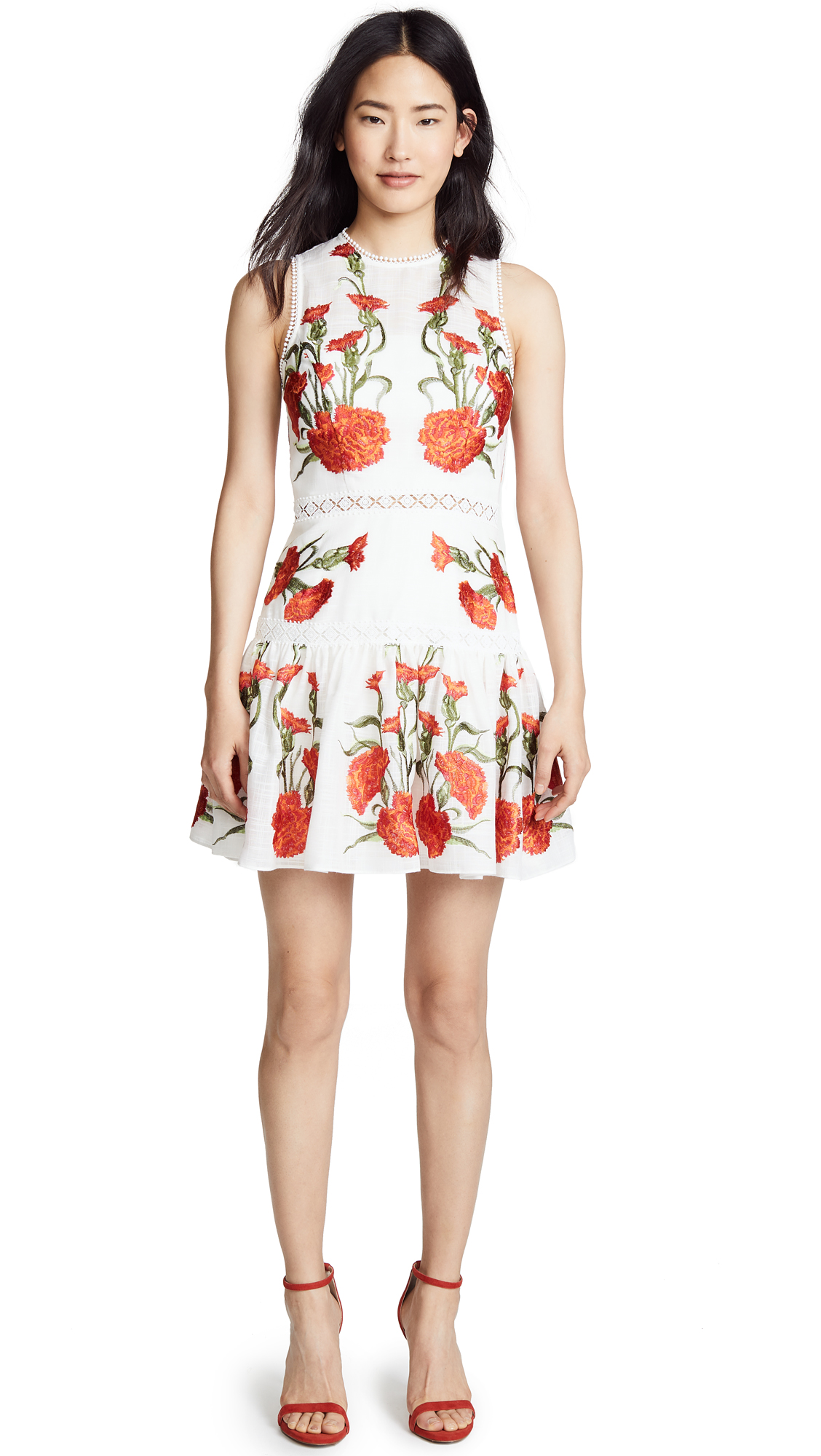 Alexis Sabella Dress In Blossom Embroidery