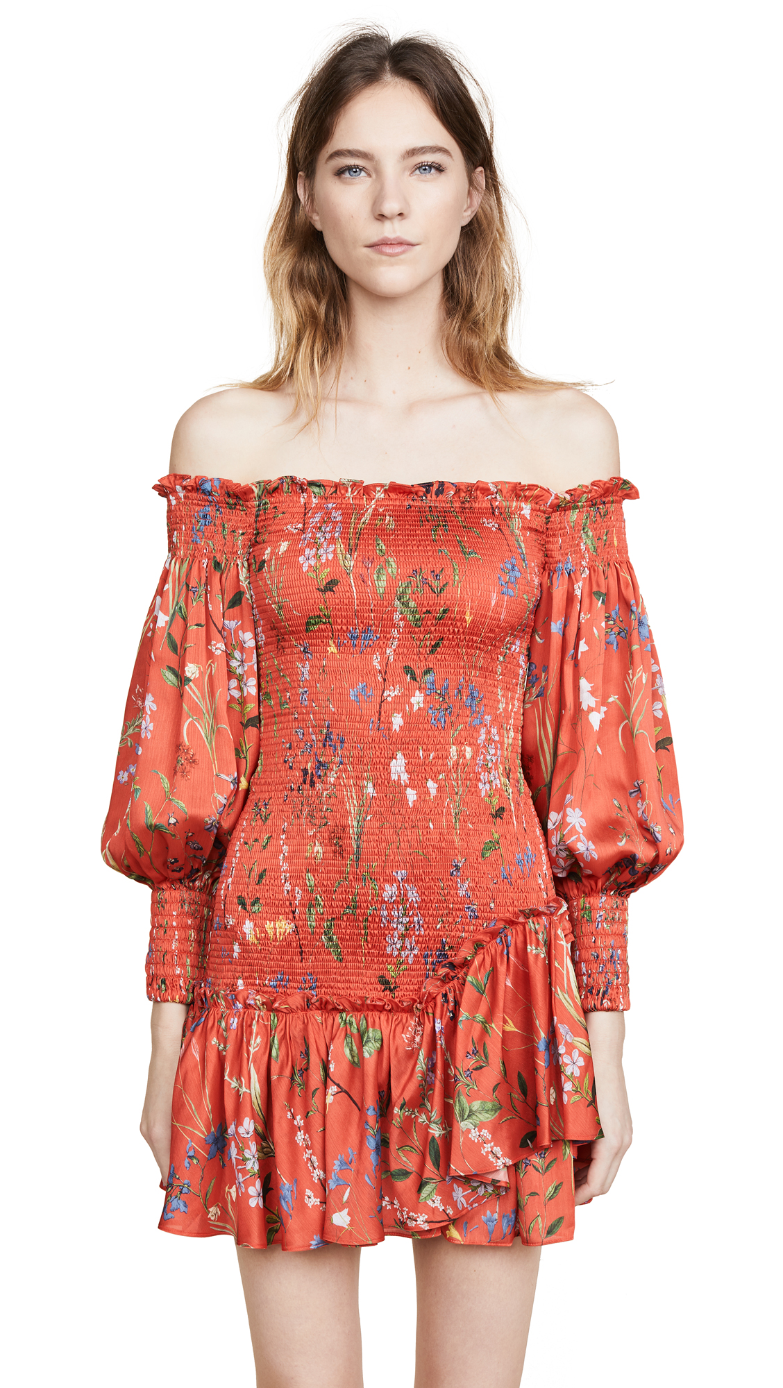 Alexis Gemina Dress - Botanical Red