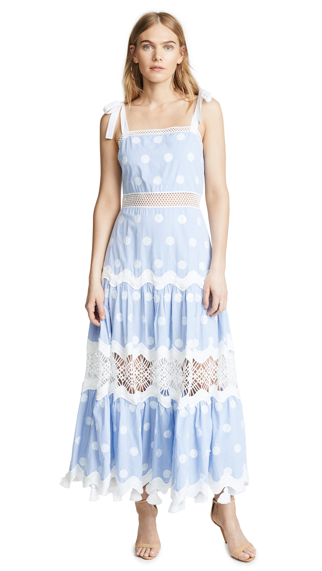 4d5c4bfba9b Alexis Ada Striped Embroidered Maxi Dress In Blue White Stripes ...
