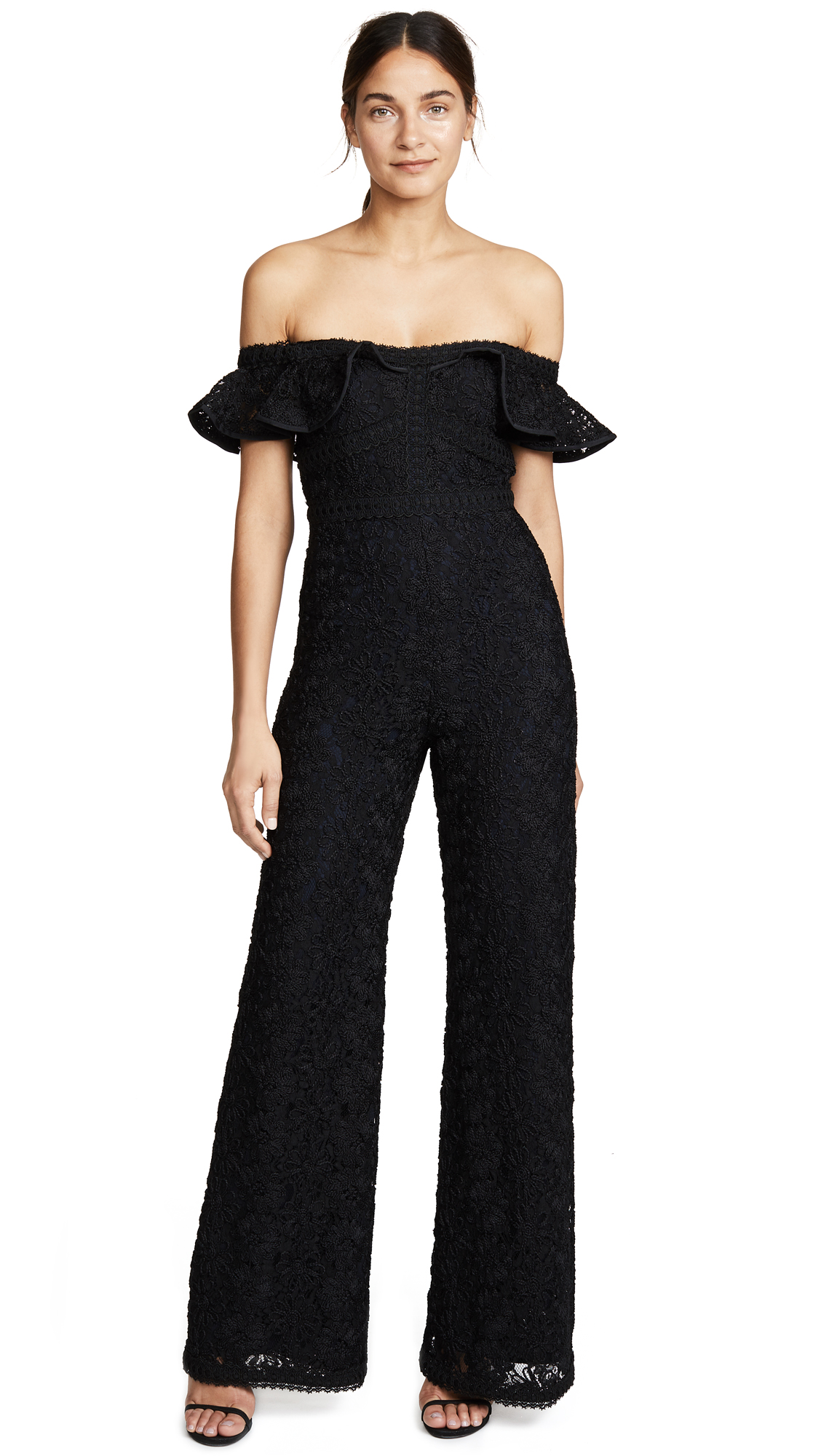 Eldyn Jumpsuit, Black Lace