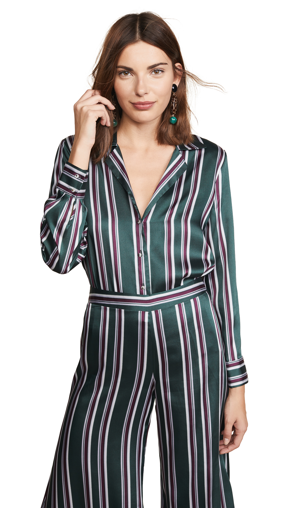 Alexis Samwell Top In Evergreen Stripes