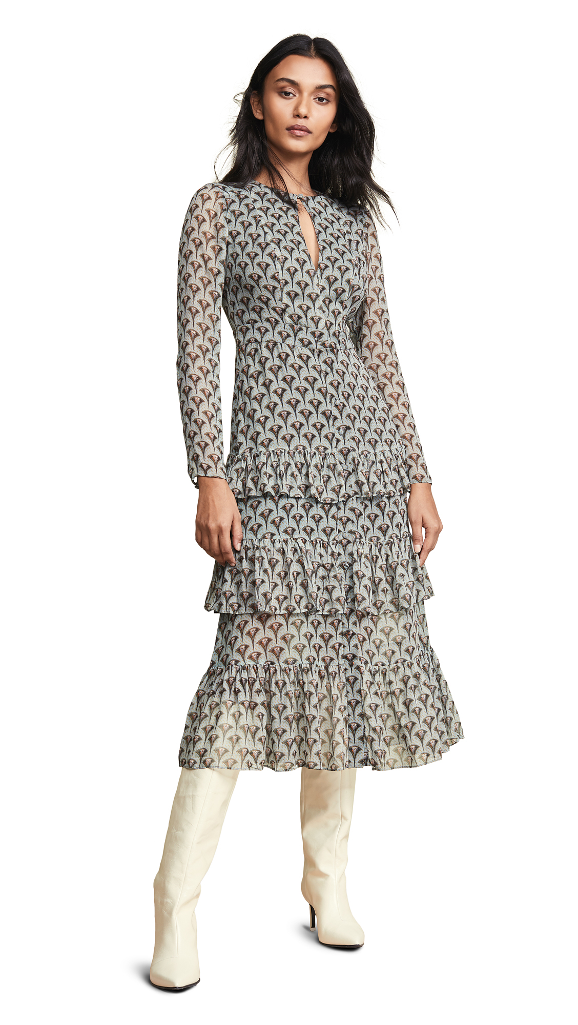 Alexis Junno Dress - Art Deco Sage
