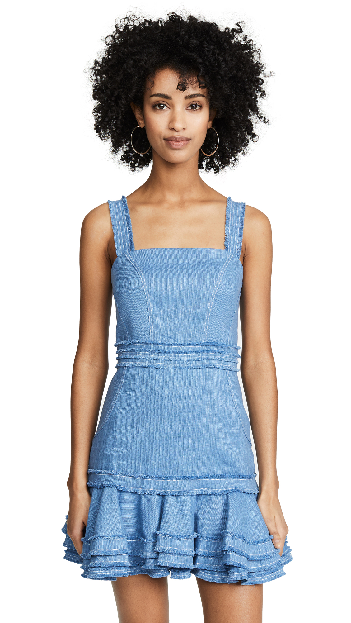 Alexis Judith Dress - Shell Blue Linen