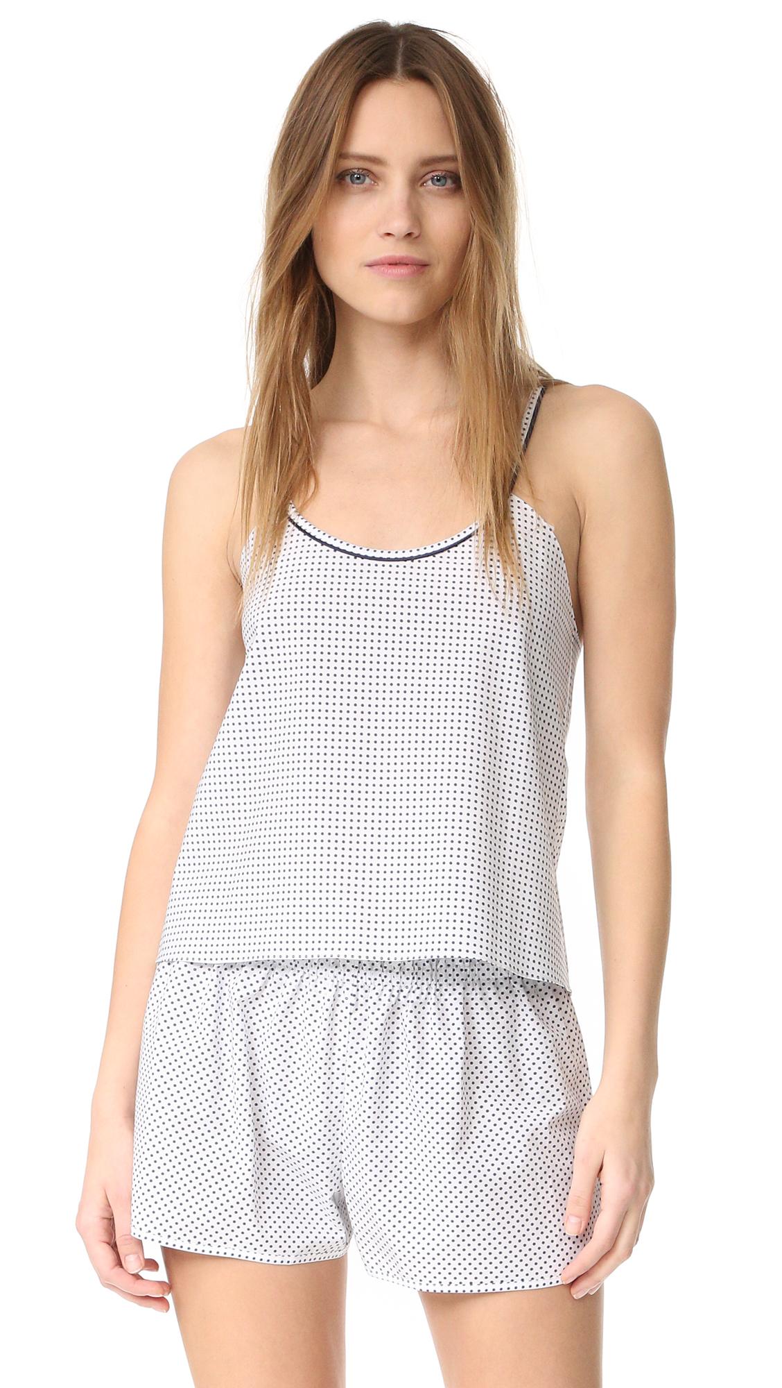 Alessandra Mackenzie Chelsea Camisole - White/Navy Dot at Shopbop