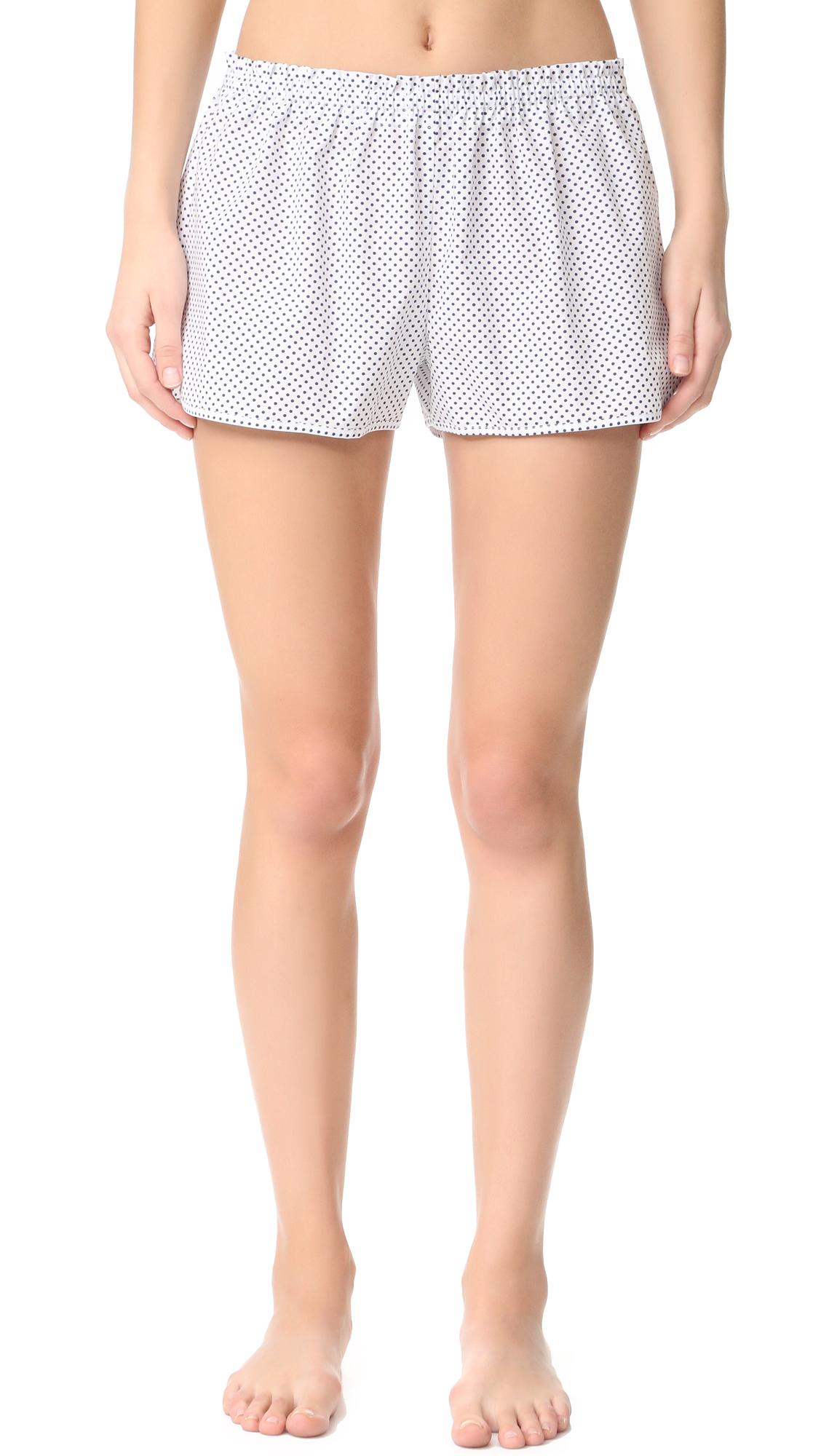 Alessandra Mackenzie Joey Shorts - White/Navy Dot at Shopbop