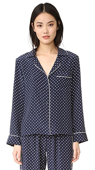 Alessandra Mackenzie Blair PJ Shirt - Navy/White Dot