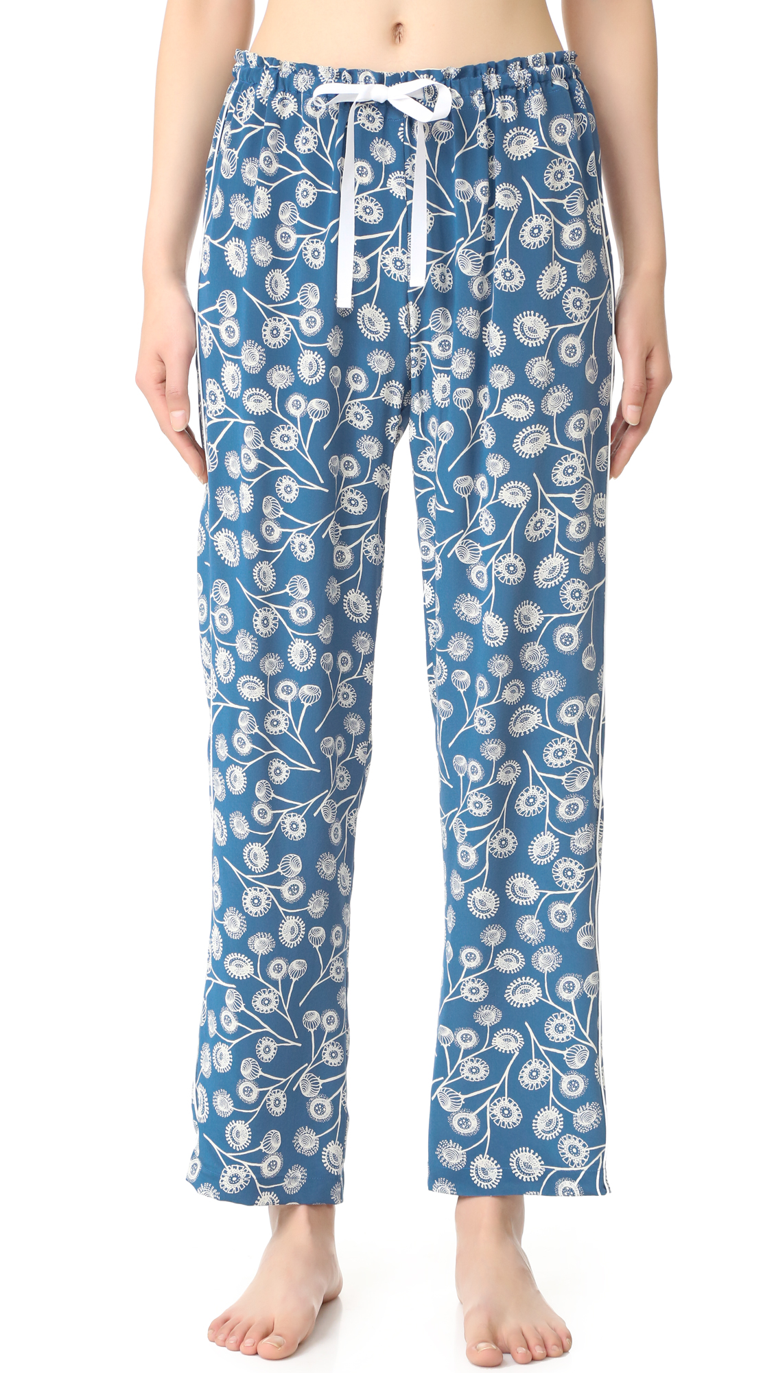Alessandra Mackenzie Allison Pj Pants - Blue/White Dandelion at Shopbop