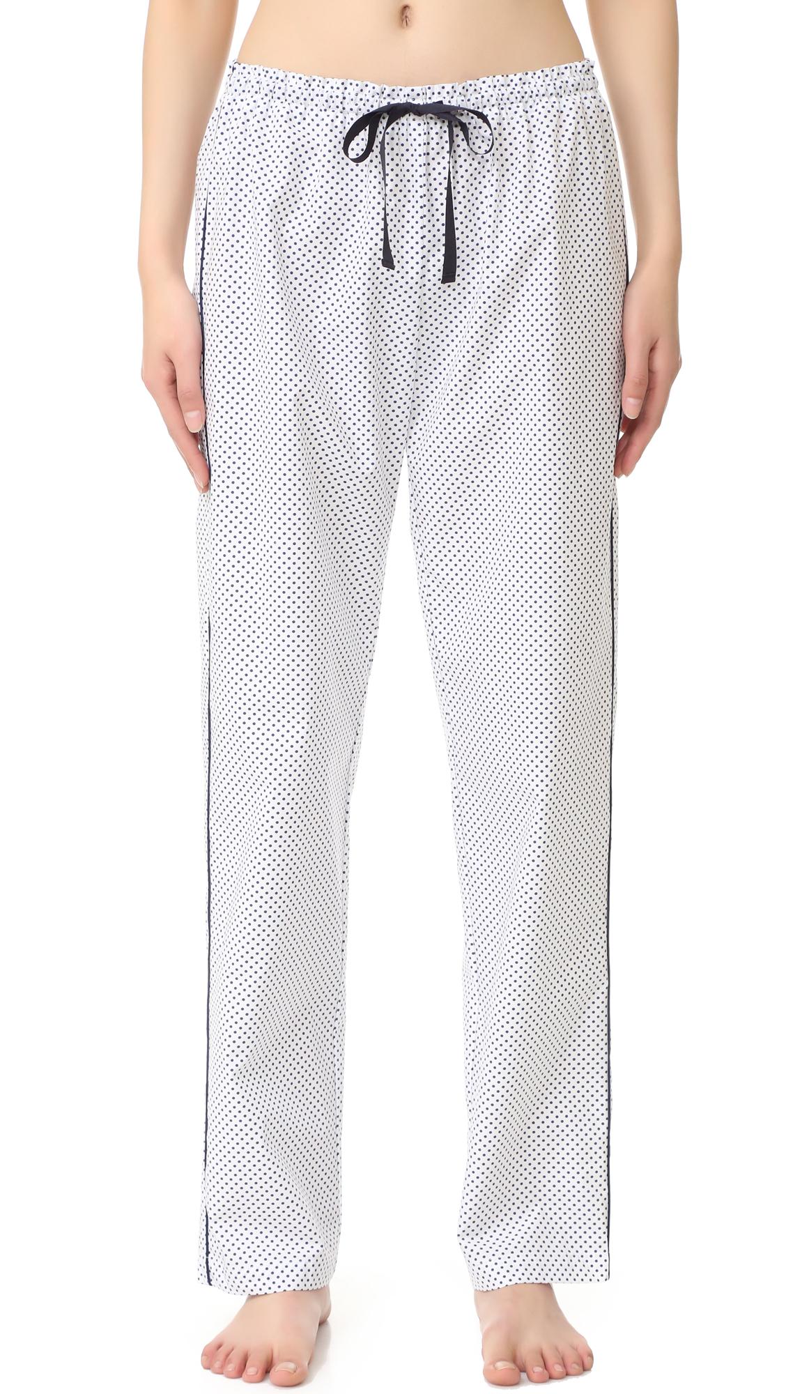 Alessandra Mackenzie Allison Pj Pants - White/Navy Dot at Shopbop