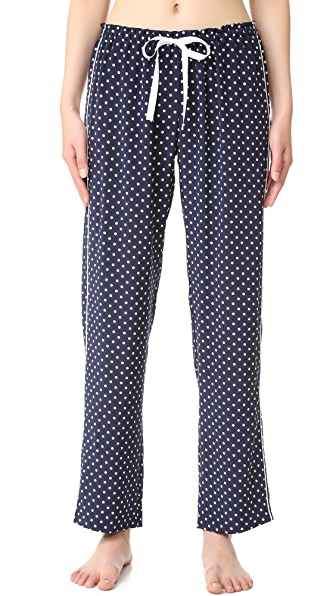 Alessandra Mackenzie Allison Silk PJ Pants - Navy/White Dot