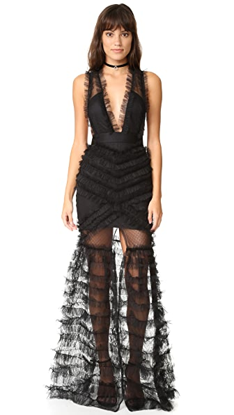 Alice McCall All Black Everything Gown - Black