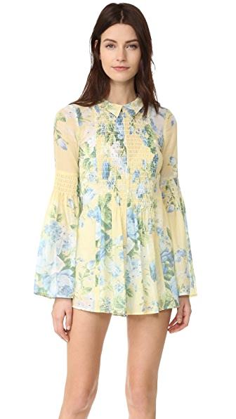 Alice McCall Pretty Hurts Romper - Butter Blossom