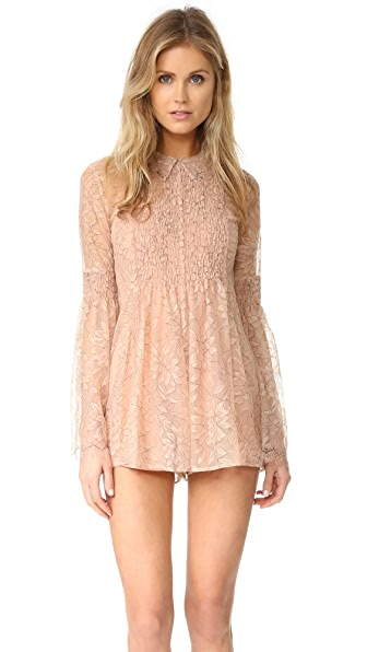 Alice McCall Hands to Myself Romper - Antique Rose
