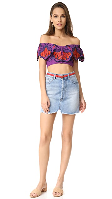 Alice McCall Let Your Love Flow Cropped Top