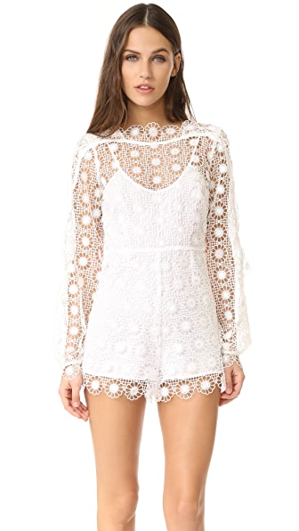 Alice McCall Send My Love Romper In Porcelain