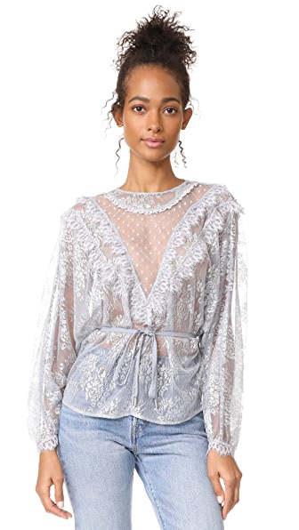 Alice McCall Picture This Top - Silver Fox