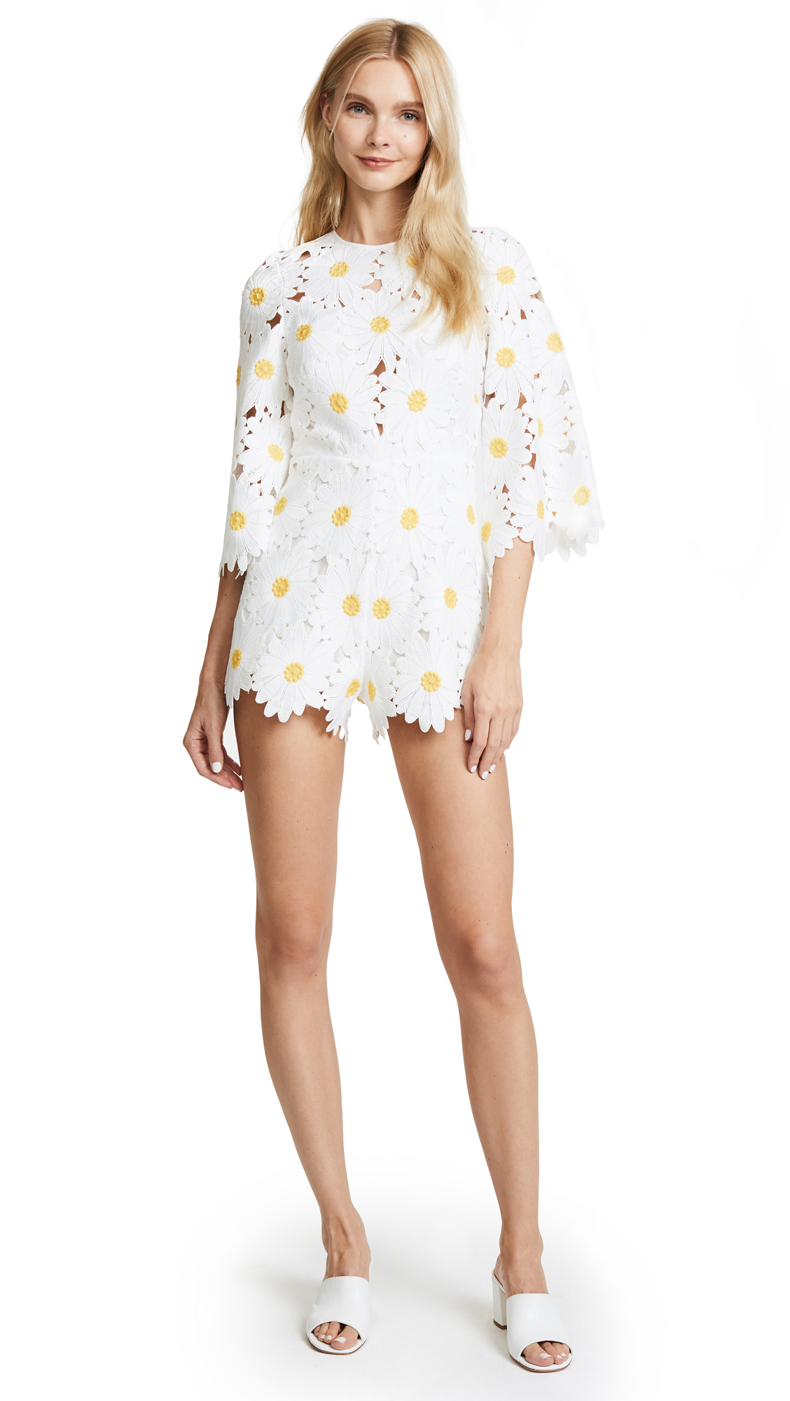Alice McCall You Can Never Tell Romper - White Daisy