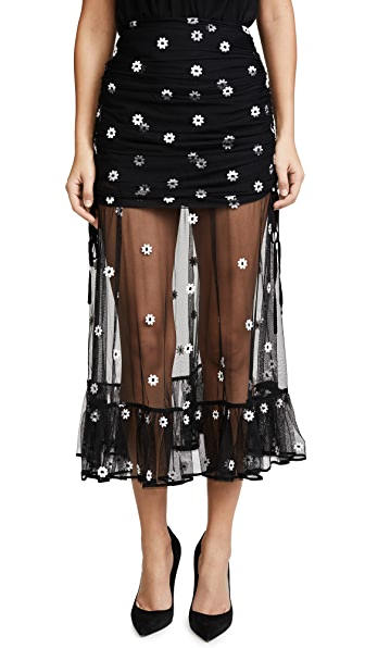 Alice McCall Le Lady Skirt In Black Daisy