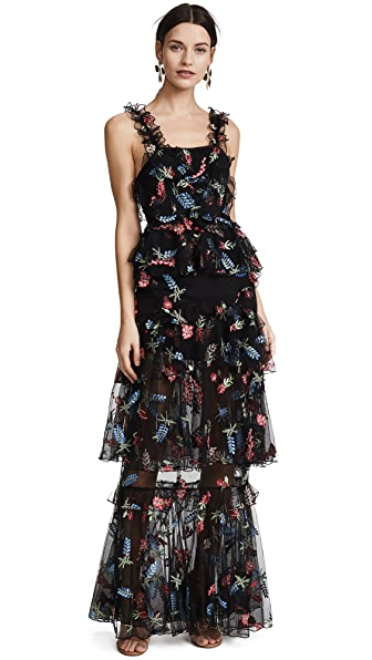 Alice McCall She Moves Me Dress In Black Berry