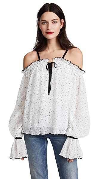 Alice McCall Picture This Blouse In Porcelain