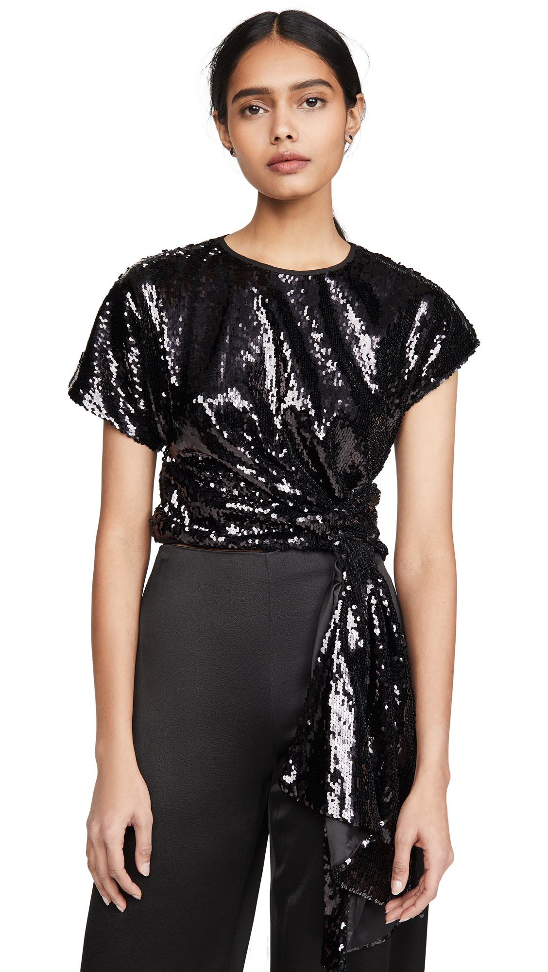 Alice McCall Electric Orchid Sequined Top - 50% Off Sale