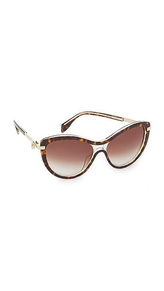 Alexander Mcqueen Skull Cat Eye Sunglasses - Havana/Brown at Shopbop