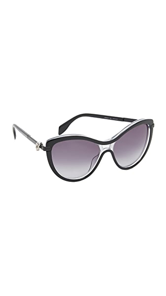 Alexander McQueen Skull Cat Eye Sunglasses