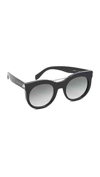 Alexander McQueen Flat Lens Piercing Sunglasses