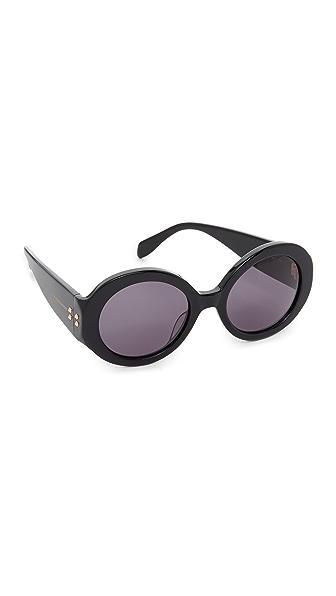 Alexander Mcqueen Belle Du Jour Sunglasses - Black/Smoke at Shopbop