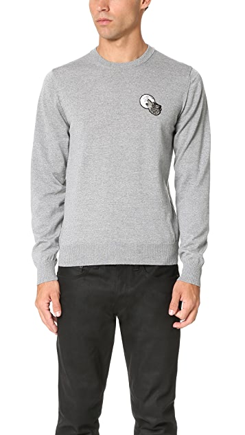 AMI Patch Crew Neck Sweater