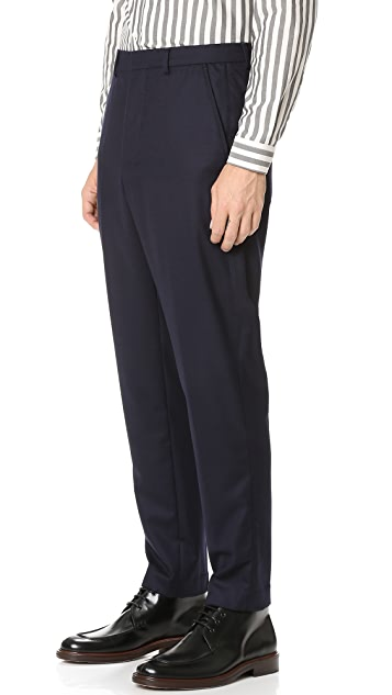 AMI Carrot Fit Flannel Trousers
