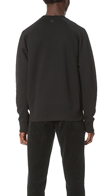 AMI Oversized Crew Neck Sweatshirt