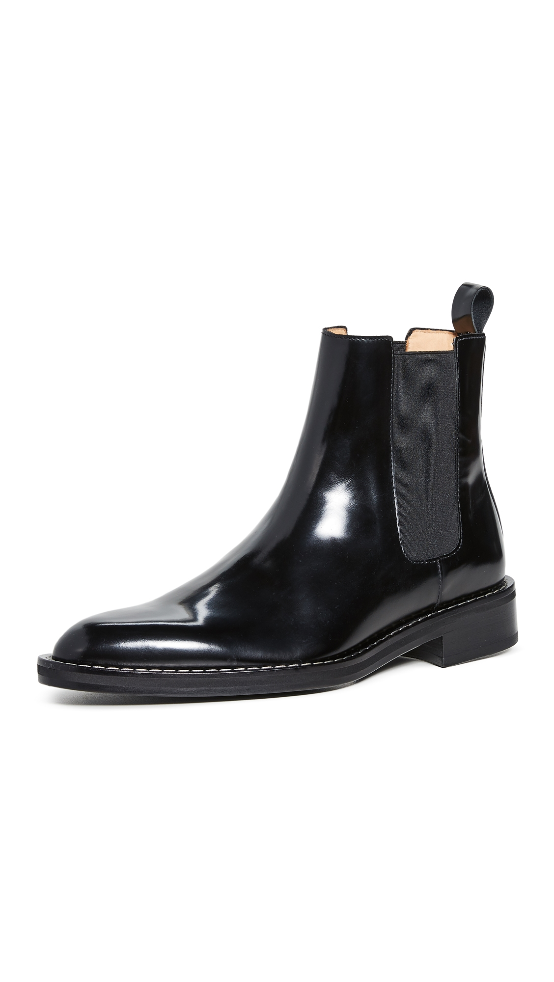 Ami Alexandre Mattiussi Welt-stitched Leather Chelsea Boots In 001 Noir