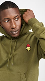 AMI Smiley Patch Pullover Sweatshirt