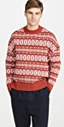 AMI Jacquard Crew Neck Sweater