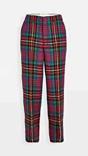 AMI Multi Color Plaid Wool Trousers