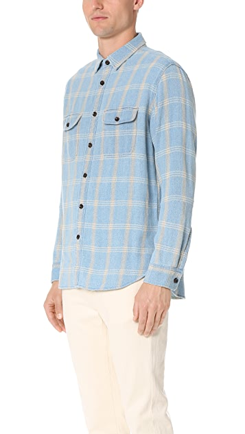 Alex Mill Indigo Flannel Shirt
