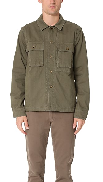 Alex Mill Herringbone Military Jacket
